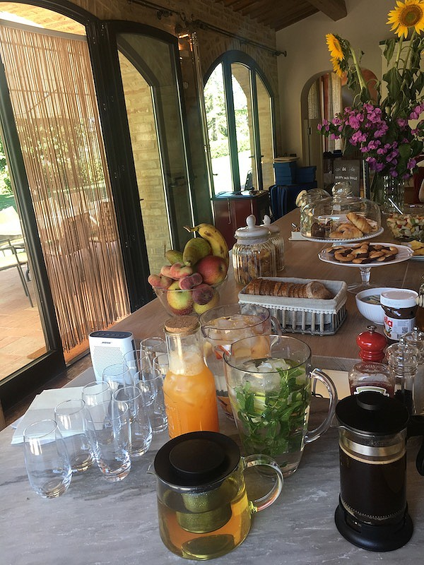 Breakfast at Villa Prati